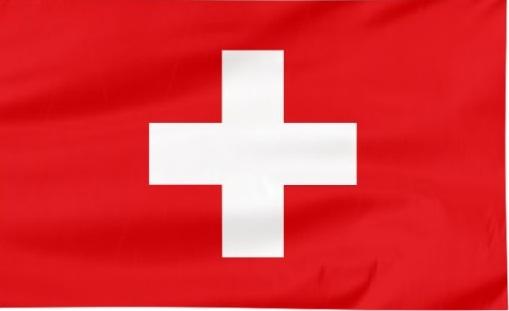 przewóż osób busami z polski do Szwajcarii - flaga